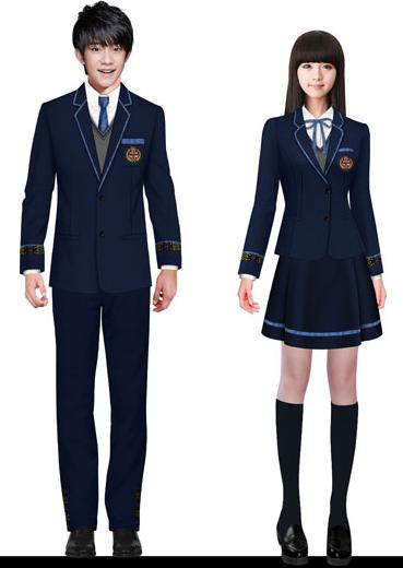 制服式校服设计图