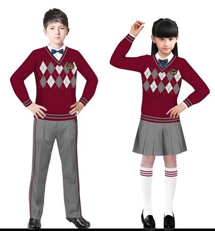 小学生校服款式设计图展示图片
